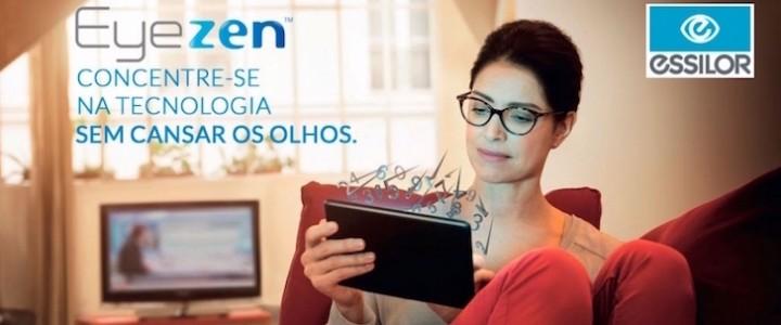 2dde167655c46 Anunciamos mais um lançamento Essilor, a lente Eyezen. Essilor é a líder  mundial no desenvolvimento e fabricação de lentes de óculos.